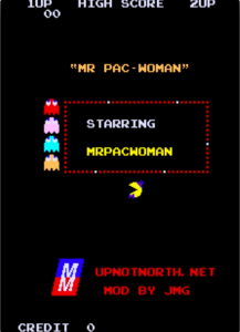 Mr. Pac-Woman title screen